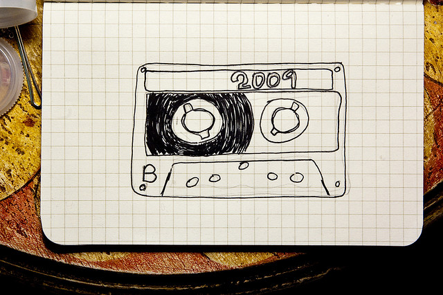 Drawing of a cassette